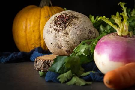 Тыква, бурак, репа и морковь