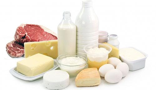 Молочные продукты и мясо